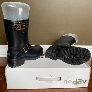 däv  Liverpool black rain boots
